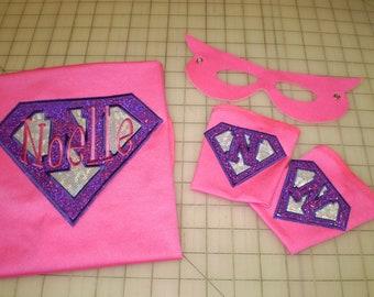 SuperHero Cape, Mask & Cuffs - Personalized UBaHero