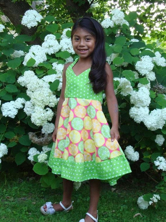 Girls Size 6 Halter Top Dress