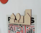 At home in the City.. wooden magnet