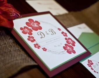 Kaua'i Deluxe Wedding Invitation Set