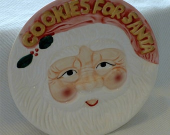 COOKIES for SANTA Vintage Decorative Plate