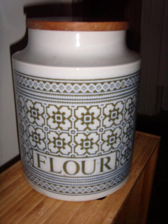 "Hornsea ""tapestry"" flour storage jar"