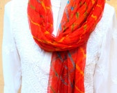 Scarf Hand dyed Georgette Beaded Ends Women Accessories India