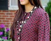 Patterned vintage blouse