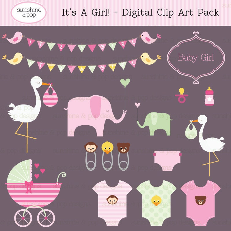 baby shower pictures clip art for a girl - photo #41