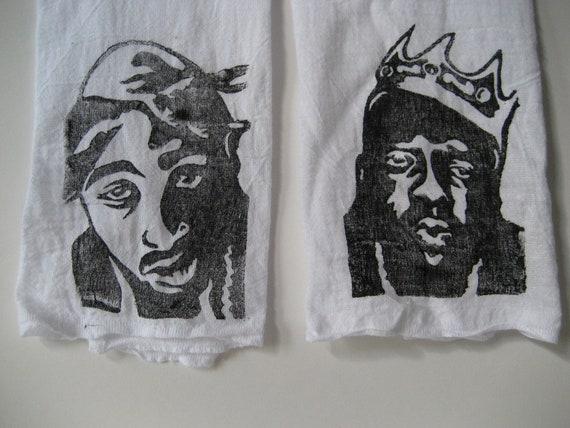 Printed Tea Towels, Tupac and Biggie