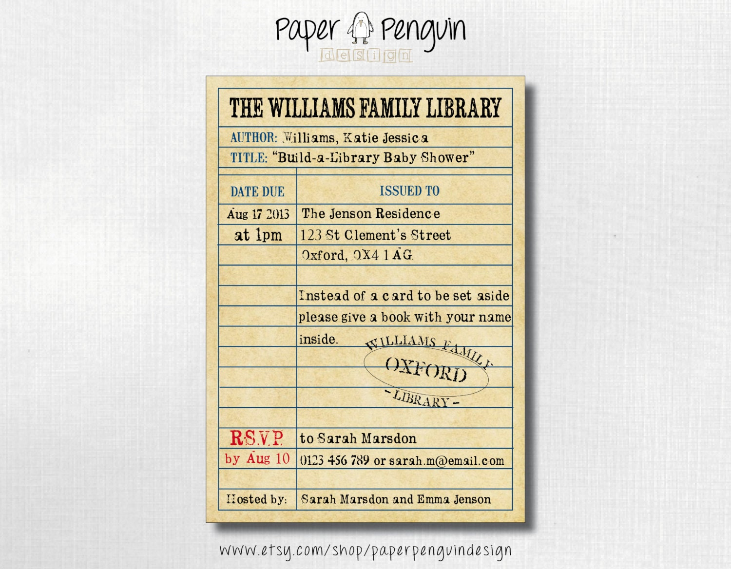 Book Themed Bridal Shower Invitations for luxury invitation template