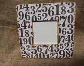 Black and White Numbers Frame. Typography. Distressed.