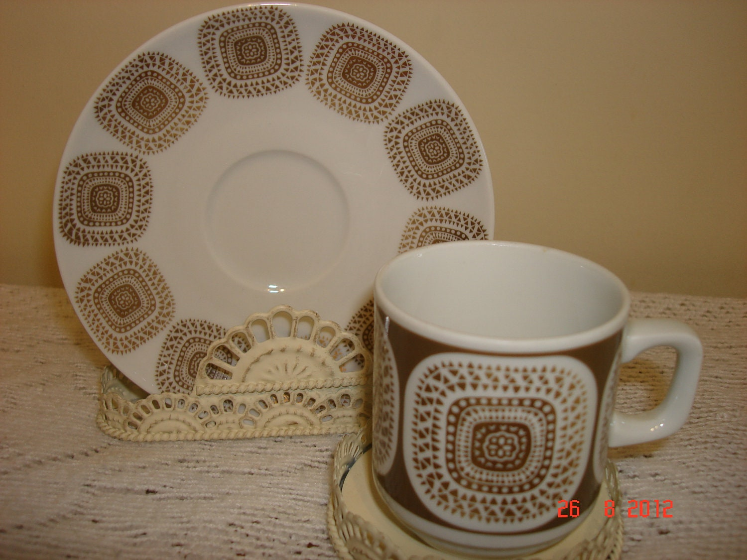 vintage eschenbach bavaria germany cup and saucer. Black Bedroom Furniture Sets. Home Design Ideas