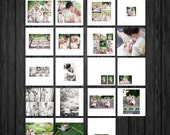 Modern Square Album design TEMPLATE  - layered .PSD files - Clean  Photography Templates - Modern Jane - adt BTS