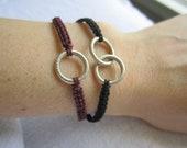 Woven karma bracelet