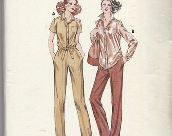 Uncut KWIK SEW Pattern 952 Misses Shirt and Pants  - sizes 6 - 12 Factory Folded Vintage Easy to Make outfit