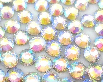 5 mm 500  pieces Round Flat Back 14 facet cut Rhinestones  ---- AB Clear