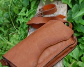 leather bag midium size brown color for i pad by mryohnhandmade Pai Thailand