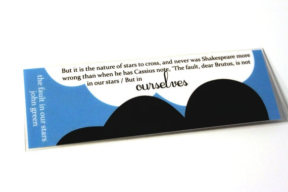 The fault in our stars laminated bookmark 2x6 for The fault in our stars coloring pages