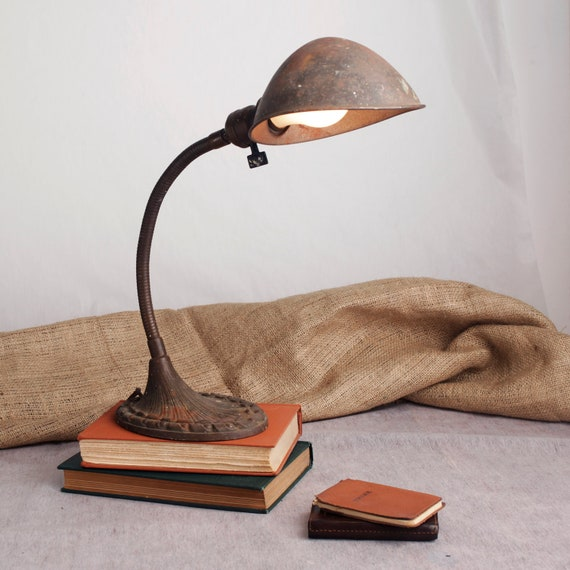 Industrial Metal General Electric Desk Lamp