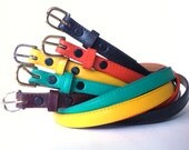 Women's Leather Skinny Belt (1/2-inch wide) - Assorted Colors
