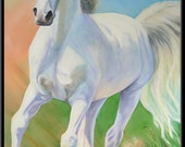 "Masterful Horse 9"" x 4.5"" Horse Print"