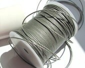 Round Leather Cord 1mm Silver Metallic 2 metres