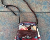 Vintage Hipster Tribal Aztec Print Shoulder Bag Legacy by Marlo Bags