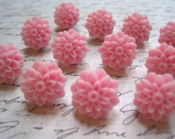 Pink Decorative Pushpins... 12 pc Decorative Thumbtacks, Flower Tack Set, Housewarming Gifts, Hostess Gifts, Wedding Favors