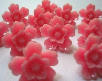 Pink Flower Cork Board Pins... 12 pc Pink Sakura Flower Decorative Thumb Tacks, Housewarming Gifts, Hostess Gifts, Wedding Favors