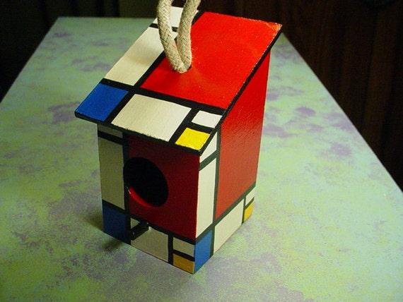 piet mondrian inspired birdhouse. Black Bedroom Furniture Sets. Home Design Ideas