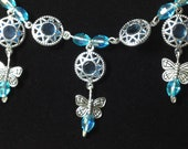 Filligree necklace and earring set