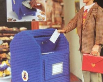 Plastic Canvas Barbie Fashion Doll Pattern MAILBOX BANK