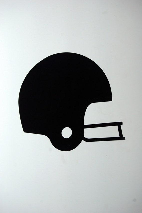 Silhouette of football helmet.