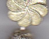gold flower, and swirl pendant