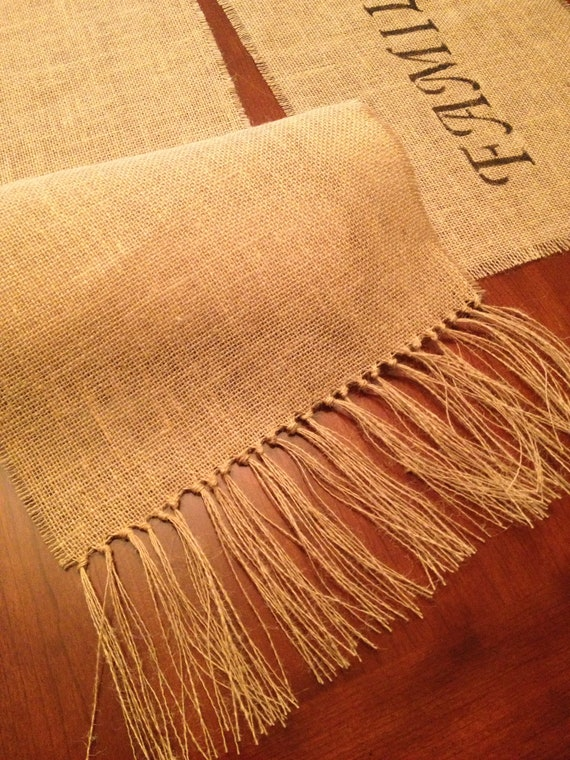 items similar to burlap table runner 12 x 102 burlap