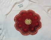 Cotton Baby Onesie with Applique Flower