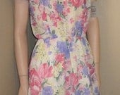 vtg new old stock nos california looks floral dress made in usa size 14p 40 bust 40 hip. End of Summer Sale