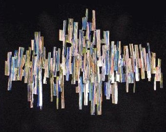 Corrugated Chrome Wall Sculpture