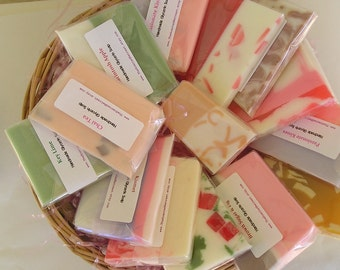 Sample Soaps - Variety Grab Bag - Handmade Glycerin Soap - Guest soap  or Travel soap