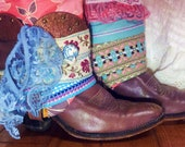 GYPSY These Upcycled size 7 1/2 (7.5) all leather vintage Abilene Brand Cowboy Boots are all the rage in BOHO Boot Wear