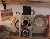 Vintage Medium Format Camera Sculpture
