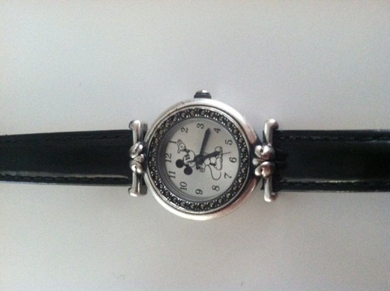Vintage Marcasite Disney Mickey Mouse Watch