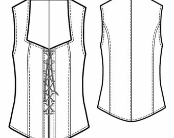 5440 PDF Sewing Pattern for Corset, Personalized for Custom Size, Women Clothing