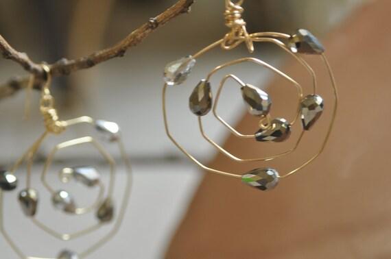 Swirled Hoop Earrings....MADE TO ORDER