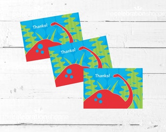 DINOSAUR Birthday Party PRINTABLE Thank You NOTES from The Celebration Shoppe