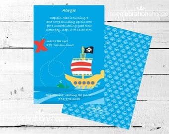 PIRATE SHIP Birthday Party INVITATION from The Celebration Shoppe