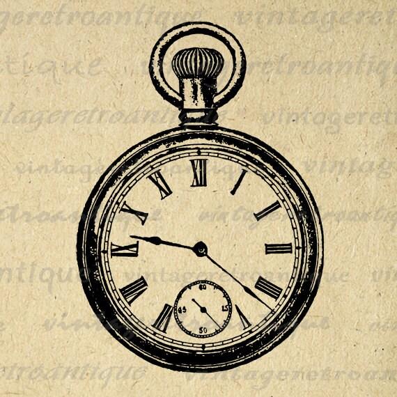 pocket watch clipart - photo #36
