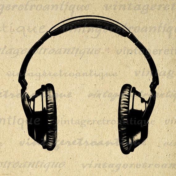 Digital Printable Headphones Graphic Music by ...