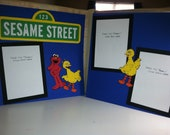 Sesame Street Pre Made 2 Page Scrapbook Layout