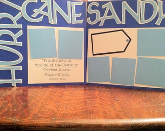 Hurricane Sandy Pre Made 12 x 12 Double Page Layout