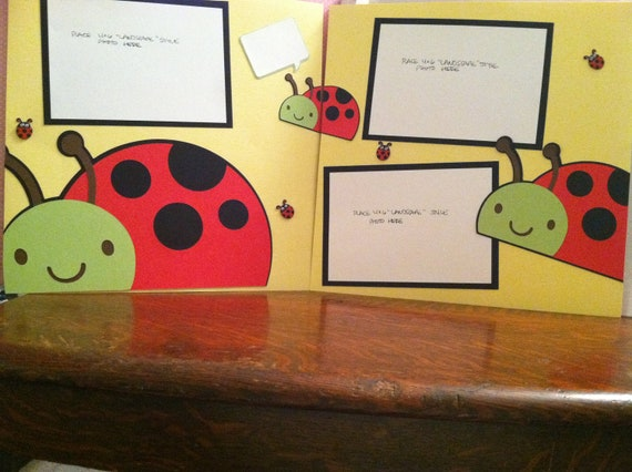 Ladybug Diecuts Pre Made 12 x 12 Double Page Layout