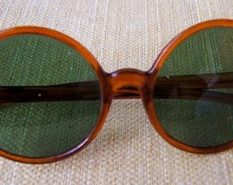 Nico-style 1960's Round Tortoise-Shell Women's Sunglasses