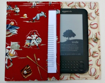 iPad Mini, Kindle, Nook, Kobo, Sony Reader, Samsung Galaxy, Small eReader Padded Case / Cover / Sleeve (READY TO SHIP) - Play Ball